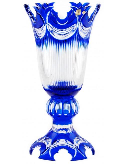Wazon Diadem, kolor niebieski, wysokość 430 mm