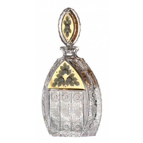 Butelka emalia, szkło kryształowe bezbarwne, objętość 600 ml