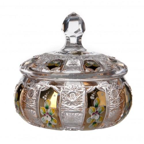 Bomboniera 500K Złoto, szkło kryształowe bezbarwne, wysokość 165 mm