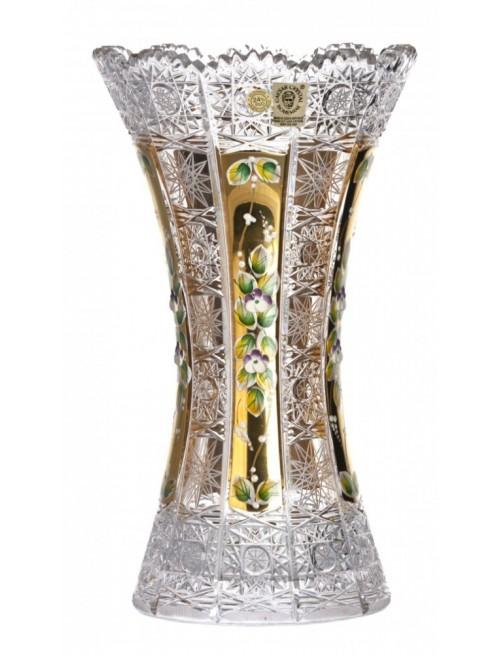 Wazon 500K Złoto II, szkło kryształowe bezbarwne, wysokość 305 mm
