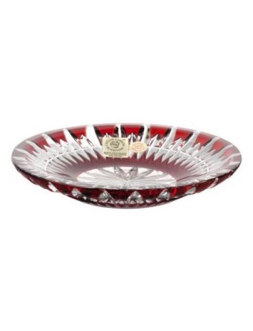 Talerz Cierń, kolor rubinowy, średnica 130 mm