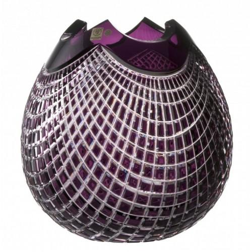 Wazon Quadrus, kolor fioletowy, wysokość 280 mm