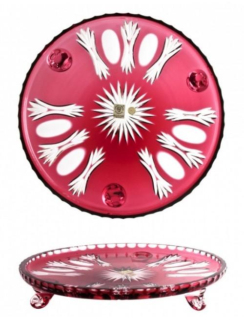 Talerz Dmuchawiec, kolor rubinowy, średnica 280 mm