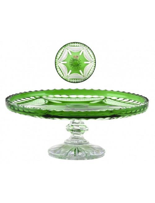 Patera Ingrid, kolor zielony, średnica 280 mm