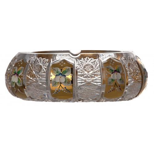 Popielniczka 500PK Złoto, szkło kryształowe bezbarwne, średnica 180 mm