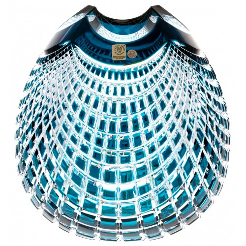 Wazon Quadrus, kolor turkusowy, wysokość 280 mm