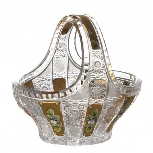 Kosz 500K Złoto, szkło kryształowe bezbarwne, średnica 200 mm