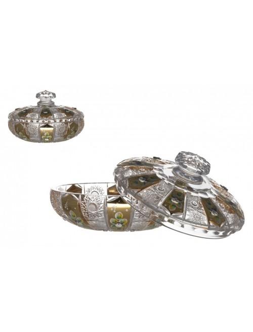 Bomboniera 500K Złoto, szkło kryształowe bezbarwne, wysokość 205 mm