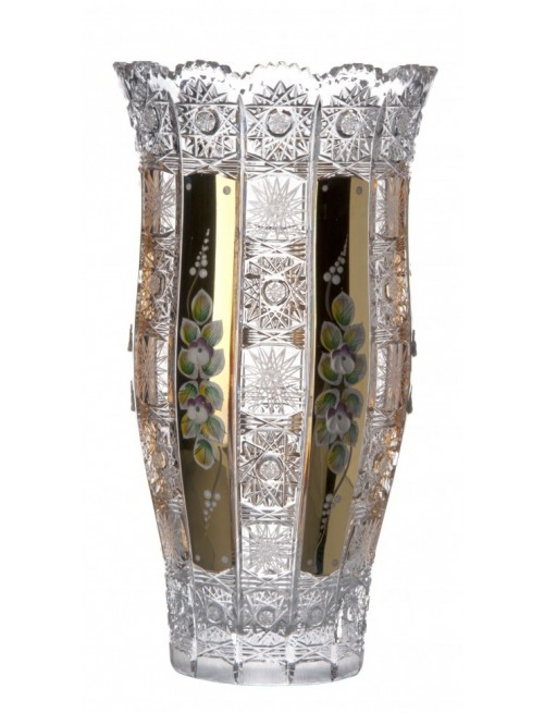 Wazon 500K Złoto III, szkło kryształowe bezbarwne, wysokość 305 mm