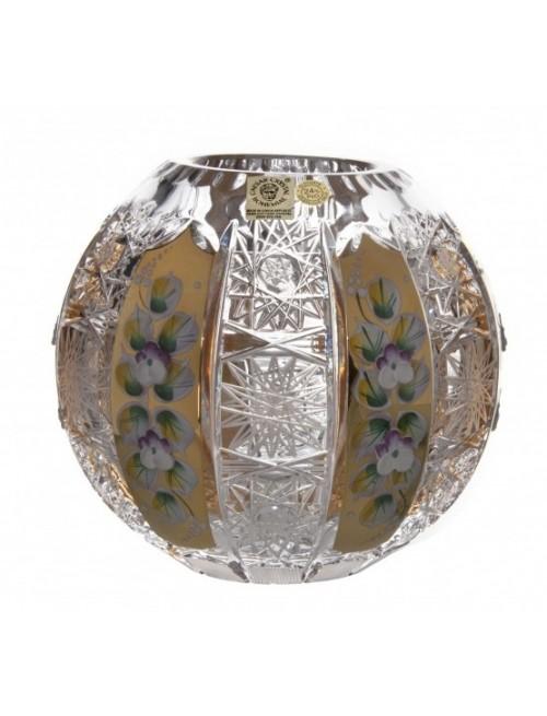 Wazon 500K Złoto, szkło kryształowe bezbarwne, wysokość 150 mm