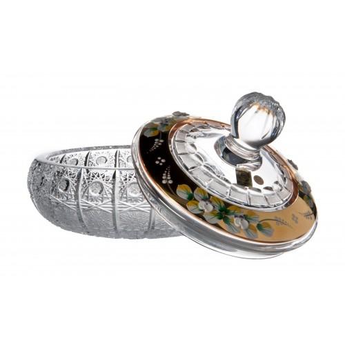 Bomboniera 500K Złoto, szkło kryształowe bezbarwne, wysokość 195 mm