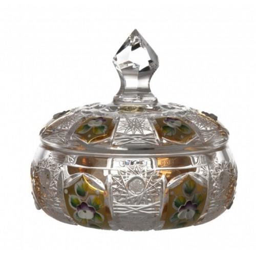 Bomboniera 500K Złoto, szkło kryształowe bezbarwne, wysokość 128 mm