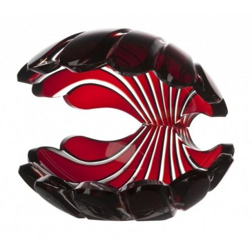 Muszla, kolor rubinowy, wysokość 140 mm