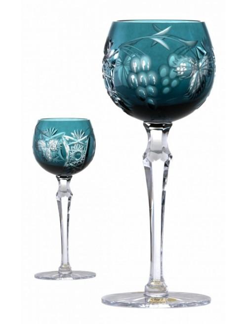 Kieliszek do wina Winorośl, kolor turkusowy, wysokość 230 mm