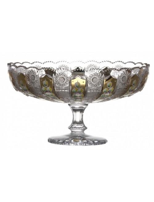 Patera 500K Złoto, szkło kryształowe bezbarwne, średnica 330 mm