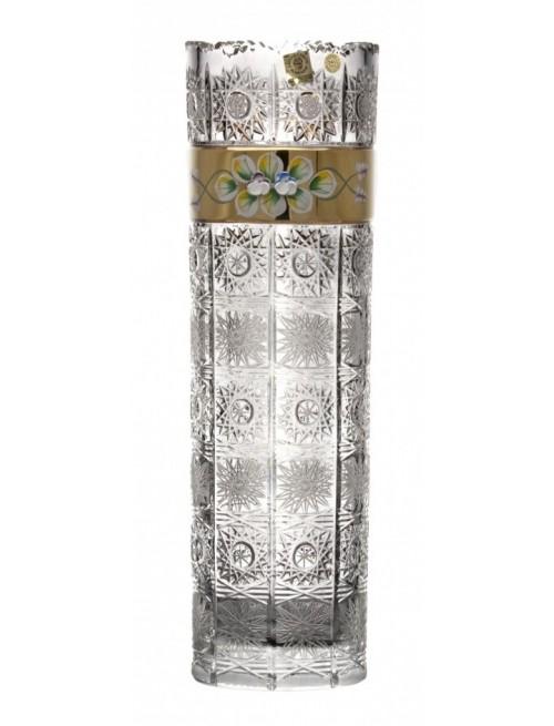 Wazon 500K Złoto, szkło kryształowe bezbarwne, wysokość 360 mm