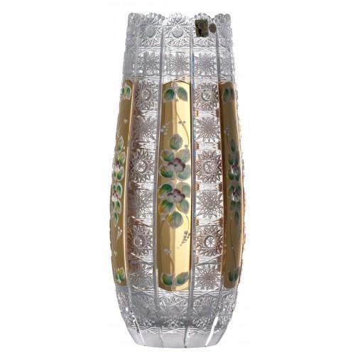 Wazon 500K Złoto, szkło kryształowe bezbarwne, wysokość 350 mm