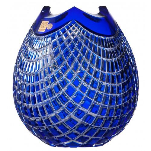 Wazon Quadrus, kolor niebieski, wysokość 210 mm