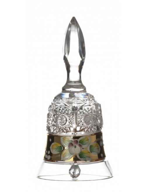Dzwonek 500K Złoto, szkło kryształowe bezbarwne, wysokość 126 mm