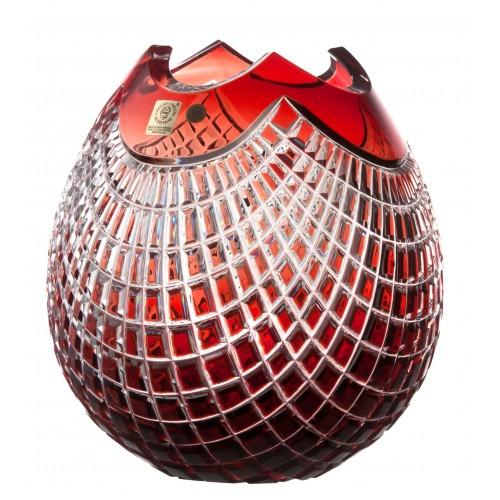 Wazon Quadrus, kolor czerwony, wysokość 210 mm