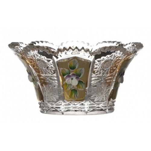 Miseczka 500K Złoto, szkło kryształowe bezbarwne, średnica 122 mm