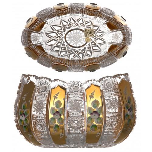 Półmisek 500K Złoto, szkło kryształowe bezbarwne, średnica 205 mm