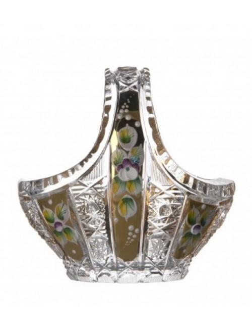 Kosz 500K Złoto, szkło kryształowe bezbarwne, średnica 100 mm