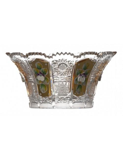 Półmisek 500K Złoto V, szkło kryształowe bezbarwne, średnica 155 mm