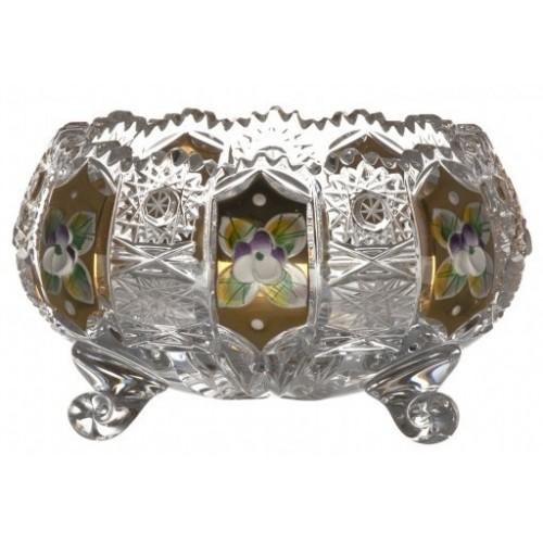 Miseczka 500K Złoto, szkło kryształowe bezbarwne, średnica 114 mm