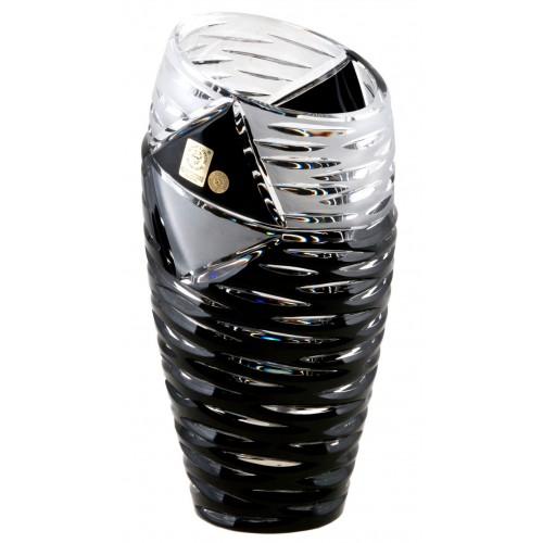 Wazon Miraż, kolor czarny, wysokość 180 mm