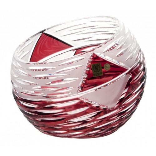Wazon Miraż, kolor rubinowy, wysokość 200 mm