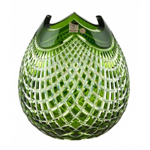 Wazon Quadrus, kolor zielony, wysokość 210 mm
