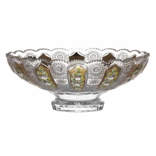 Półmisek 500K Złoto, szkło kryształowe bezbarwne, średnica 305 mm