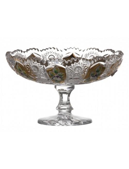 Patera 500K Złoto, szkło kryształowe bezbarwne, średnica 160 mm