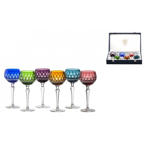 Zestaw kieliszków do wina Tomy 190, różne kolory, objętość 190 ml