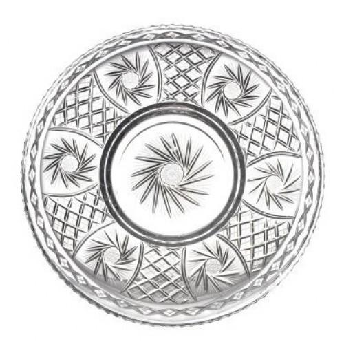 Talerz Wiatraczek, szkło kryształowe bezbarwne, średnica 440 mm