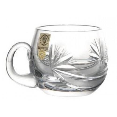 Kubek Kokarda, szkło kryształowe bezbarwne, objętość 160 ml