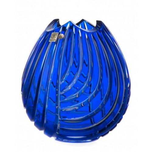 Wazon Linum, kolor niebieski, wysokość 210 mm