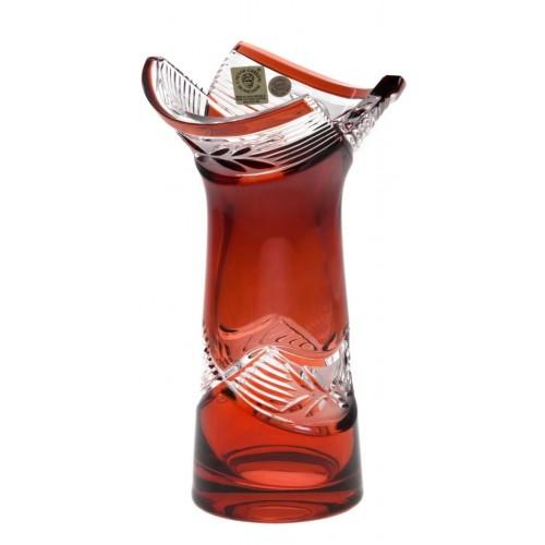 Wazon Laurel, kolor rubinowy, wysokość 185 mm