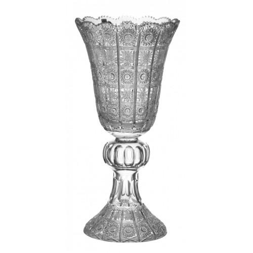Wazon 500PK, szkło kryształowe bezbarwne, wysokość 430 mm