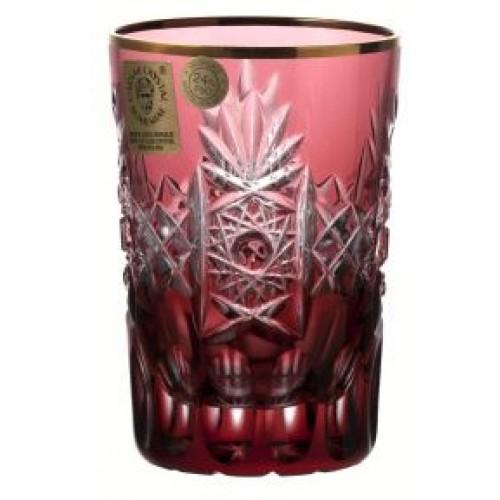 Szklanka Złoto, kolor rubinowy, objętość 100 ml