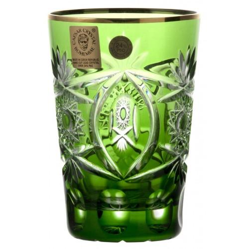 Szklanka Złoto, kolor zielony, objętość 145 ml