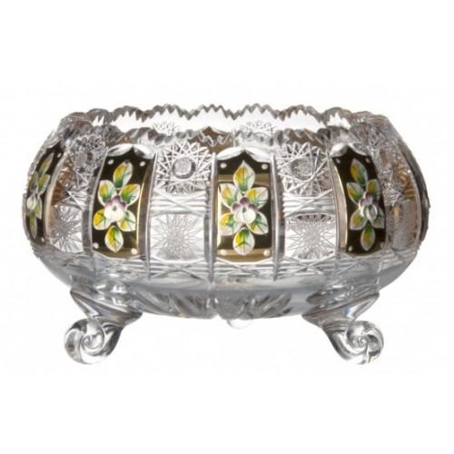 Półmisek 500K Złoto II, szkło kryształowe bezbarwne, średnica 205 mm
