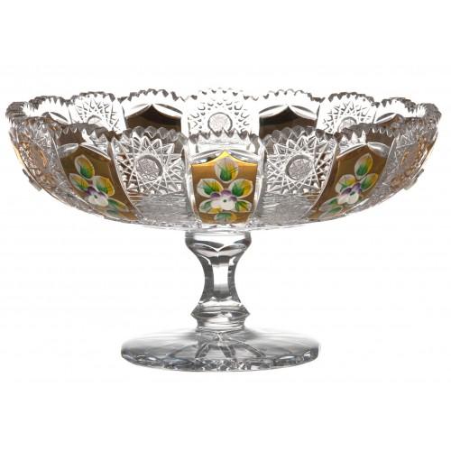Patera 500K Złoto, szkło kryształowe bezbarwne, średnica 205 mm