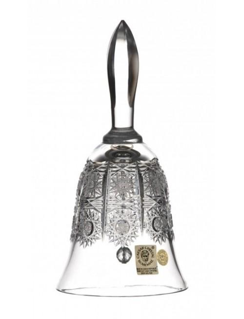Dzwonek 500PK, szkło kryształowe bezbarwne, wysokość 165 mm
