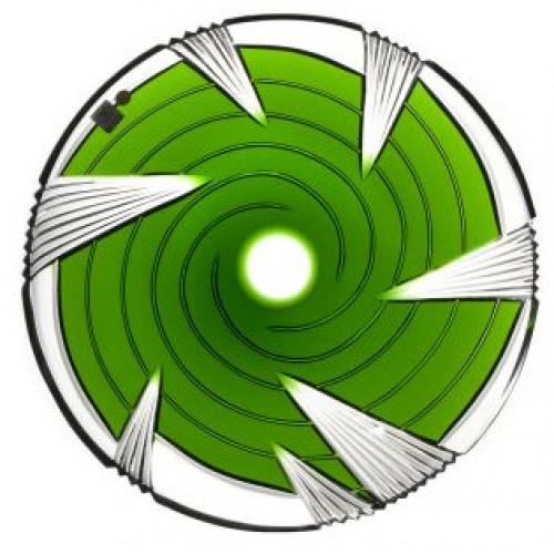 Talerz Whirl, kolor zielony, średnica 300 mm