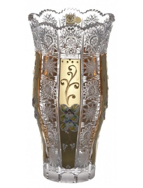 Wazon 500K Złoto III, szkło kryształowe bezbarwne, wysokość 255 mm