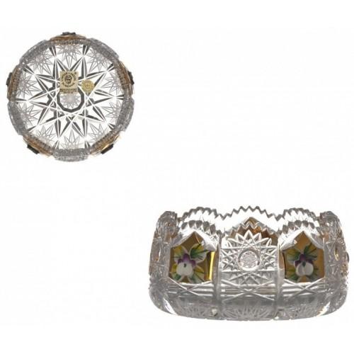 Miseczka 500K Złoto, szkło kryształowe bezbarwne, średnica 102 mm