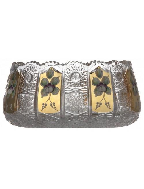 Półmisek 500K Złoto II, szkło kryształowe bezbarwne, średnica 180 mm