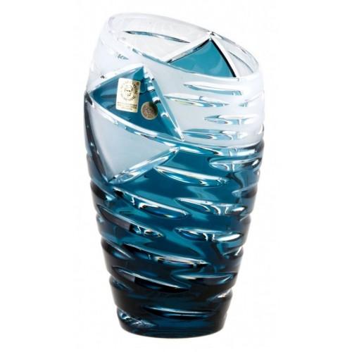 Wazon Miraż, kolor turkusowy, wysokość 230 mm